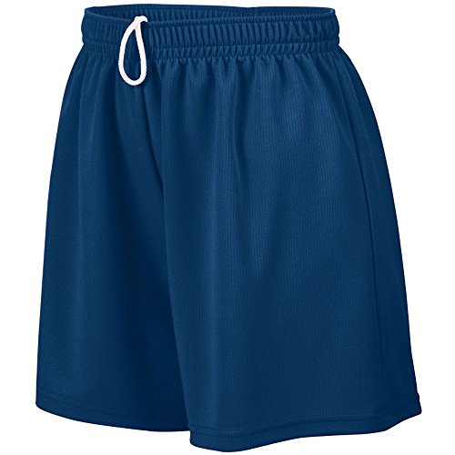 Augusta Sportswear Girls' WICKING MESH SHORT M NAVY