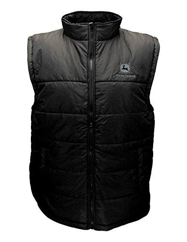 John Deere Western Vest Mens Embroidery Logo Quilted XL Black 14321757 (John Deere 440 Log Skidder For Sale)