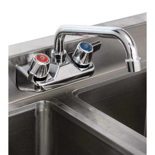 Stainless Steel Commercial Three Compartment Under Bar Sink 19 x 48 with Left Drianboard
