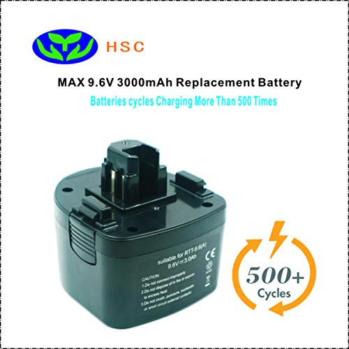 (RTT9.6A 3000mAh 9.6V NiMh Battery Replacement MAX Rebar tying tool JP409,JP409GD Original Battery)