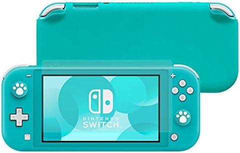 Lammcou Carcasa para Nintendo Switch Lite Funda de Protección Silicona Liquida Grip Funda de Agarre con Cristal Templado Protector de Pantalla & Tapas de Agarre para el Pulgar, Switch Lite Case: Amazon.es: