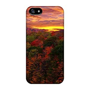 High Quality LastMemory Red Forest At Sunset Skin Case Cover Specially Designed For Iphone - 5/5s