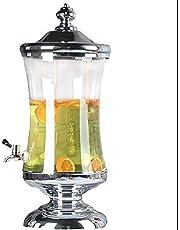 BNjq Dispensador de Bebidas de Vidrio de 10L Tarro de masón con Base de Metal, Interruptor de espita, dispensador de Bebidas for Limonada, té, Agua fría, Vino