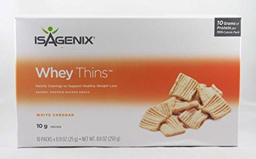 Isagenix Whey Thins White Cheddar - 10 (0.9 oz) Packs