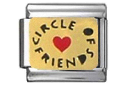 (Stylysh Charms Friends Circle Friends Enamel Italian 9mm Link FA183)