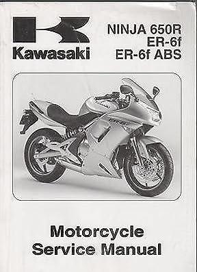 2006 kawasaki motorcycle ninja 650r er 6f er 6f abs service manual rh amazon com 2006 Kawasaki Ninja 636 2006 Kawasaki Ninja 650