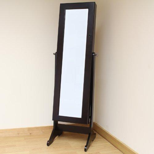 Hartleys - Standspiegel & Schmuckschrank für das Schlafzimmer in einem - Braun