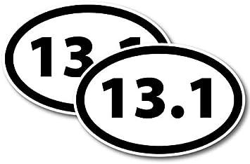 13.1 Half Marathon Inverted Black Oval Car Magnet Decal Heavy Duty Waterproof Magnet Me Up