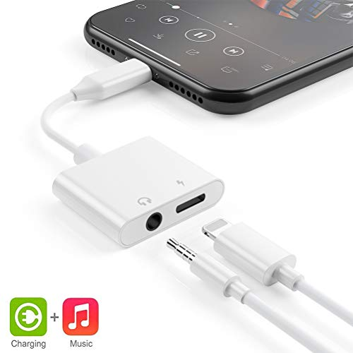 Headphone Adapter Jack for iPhone Charger Jack AUX Audio 3.5 mm Adapter for iPhone Adapter Compatible with iPhone 7//7Plus//8//8Plus//X//XS//XR//10//XSMAX Dongle Accessory Connector Compatible All iOS Systems
