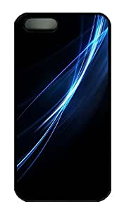 SUN VIGOR 5s Case Blue Light Line Durable and Comfortable iPhone 5s Cases Personalized Hard Black Cases