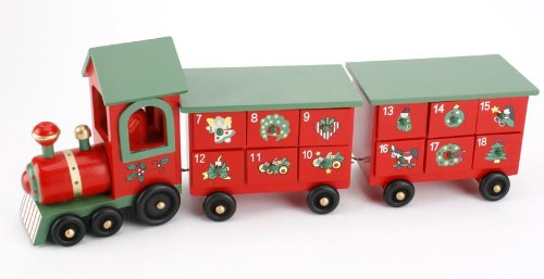 Wooden Train Advent Calendar Carousel FR289