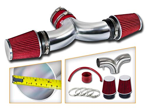 Red Dual Twin Air Intake Kit Filter For 1997-2000 Chevy Corvette C5 5.7L V8