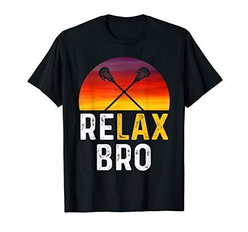 RELAX BRO! Vintage Surf Sun Design Lacrosse Shirt T-Shirt