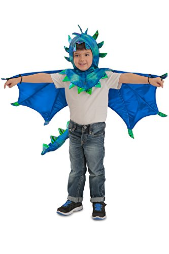 Princess Paradise Kids Sully Dragon Hooded Cape Costume, X-Small, Blue