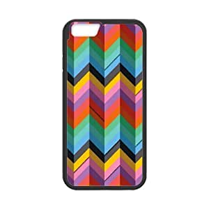 IPhone 6 Cases Colorful Triangles Art, Abstract Color Cases Jumphigh, {Black}