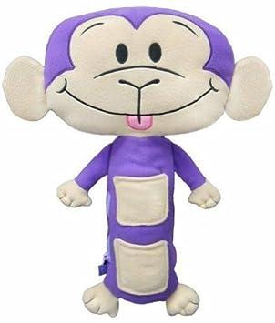Seat Pets - Mono de peluche para asiento de coche en morado y tostado, para