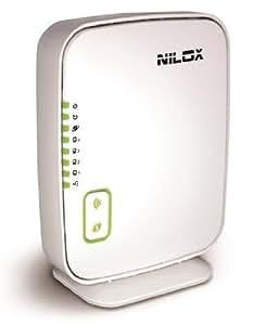 Nilox DAS-2420 - Router (10, 100 Mbit/s, 10/100Base-T(X), 802.11b, 802.11g, 802.11n, 300 Mbit/s, 25m, ADSL (RJ-11))