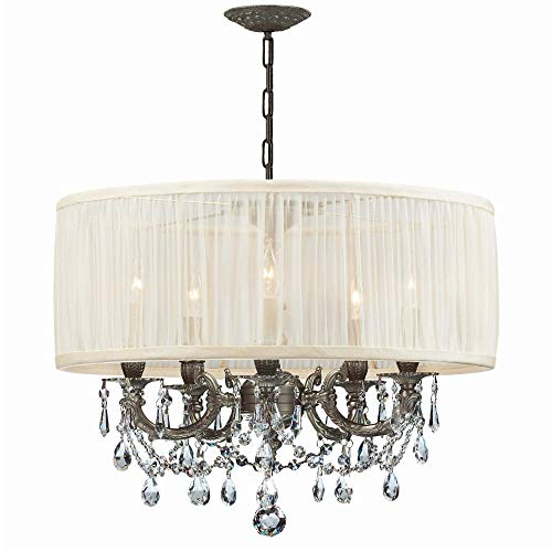 - Crystorama 5535-PW-SAW-CLS Crystal Accents Five Light Mini Chandeliers from Gramercy collection in Pwt, Nckl, B/S, Slvr.finish,