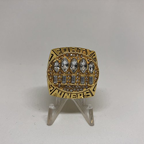 - 1994 Steve Young San Francisco 49ers High Quality Replica 1994 Super Bowl XXIX Ring Size 10.5-Gold & Red Logos US SHIPPING