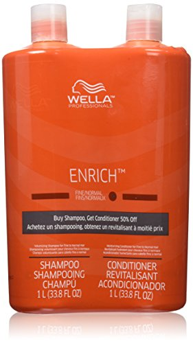 Wella Enrich Shampoo Conditioner Fine To Normal Hair Liter Duo 338 Oz