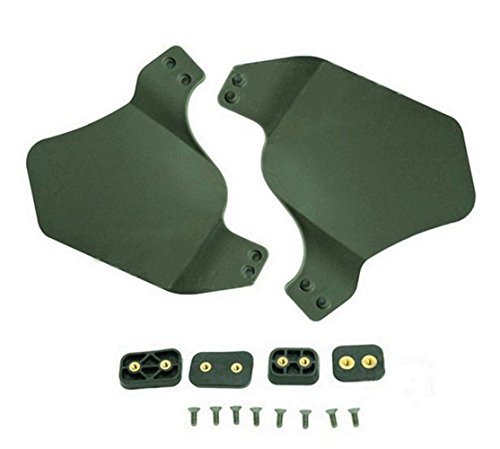 OSdream Up-Armor Side Cover for Fast Helmet Rail, Helmet Accessories Ear Protection, Helmet Ear-Bezel (Green)
