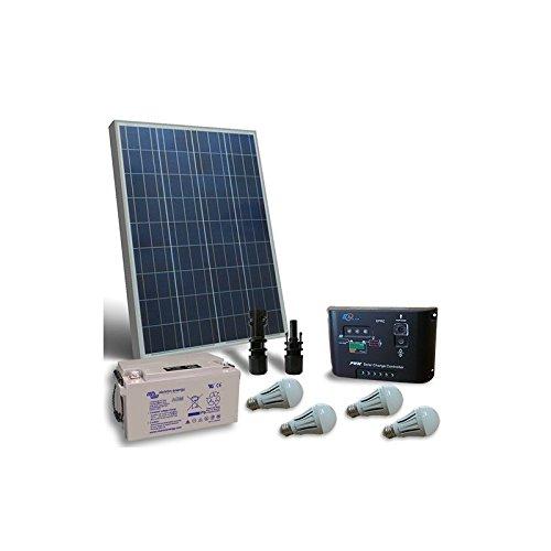 PuntoEnergia Italia - Kit de iluminación solar LED 130W 12V para interior Fotovoltaica bateria 90Ah - KIL-130-12-B90-AVF: Amazon.es: Bricolaje y ...