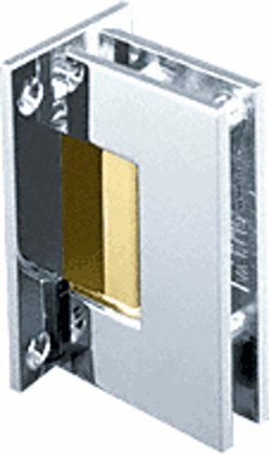 CRL Geneva 037 Series Chrome with Brass Accents Wall Mount Full Back Plate Standard Hinge