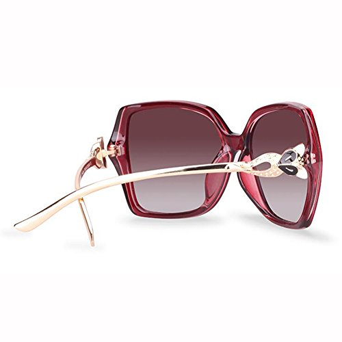 B Beat De De Metal UV Patas Cara Polarizada Color C Street Sra xin Redonda Gafas Moda Luz Espejo WX Gafas Anti Sol n4RgpqwTPx