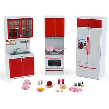 Amazon 'Deluxe Modern Kitchen' Battery Operated Toy Kitchen Mesmerizing Mini Kitchen Set