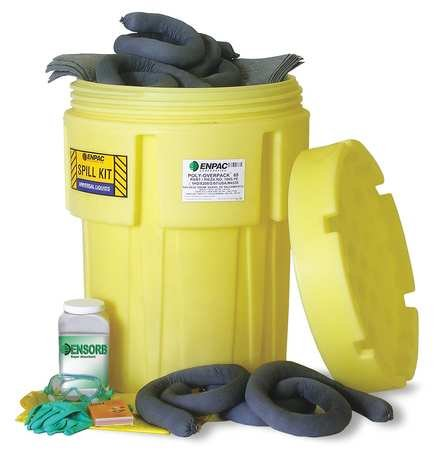 Enpac 1361-YE 83 Piece 65 gallon Aggressive Salvage Drum Spill Kit