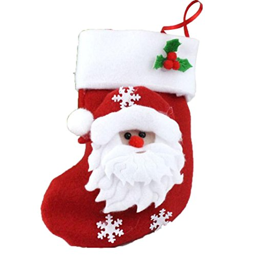 [Tenworld Decoration Stockings Sack Gift Filler Sock Red Christmas Hanging Stockings (Santa Claus] (Grinch Costume Diy)