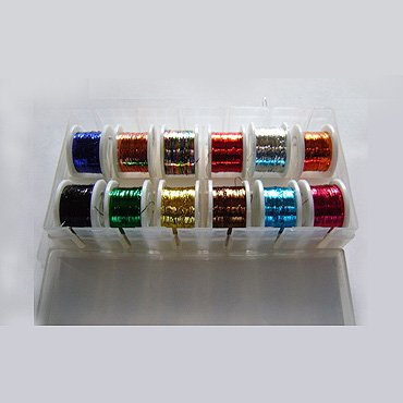 12x-Spool-of-Round-Tinsel-Multi-Colour-FLY-Tying-FLY-Fishing-Fly-Dressing
