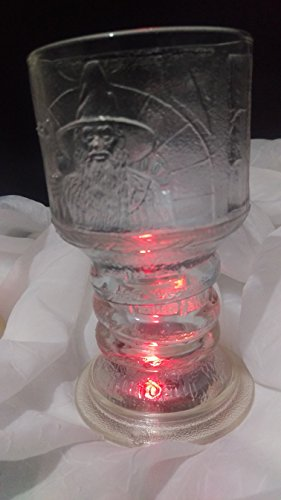 The Lord of The Rings ''The Fellowship of The Ring'' GANDALF Glass Goblet by New Line Production, Inc. (Image #6)