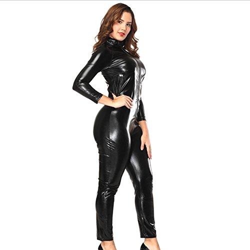 Di Donne Delle Ds021 l Black Classico Uniformi Clubwear Donna Biancheria Sexy Cosplay Cosy Babydoll Cuoio gZY4w