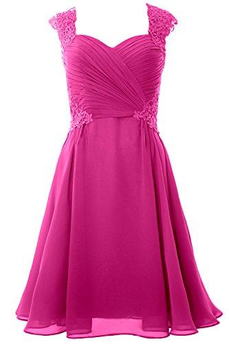 Sleeve Macloth Gown 2017 Dress Short Fuchsia Formal Cocktail Wedding Party Cap Women SqqUE