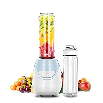 Comfee 250W Personal Blender with 2 x 20 Oz BPA Free Tritan Sport Bottle and 2 BPA Free Travel Lid. Mini Portable Smoothie maker for smoothies, Shakes, Baby Food, Healthy Drinks