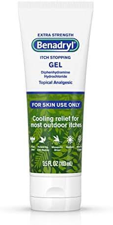 Benadryl Extra Strength Cooling Anti-Itch Gel, Diphenhydramine HCI Topical Analgesic, 3.5 Fl. Oz (Pack of 1)