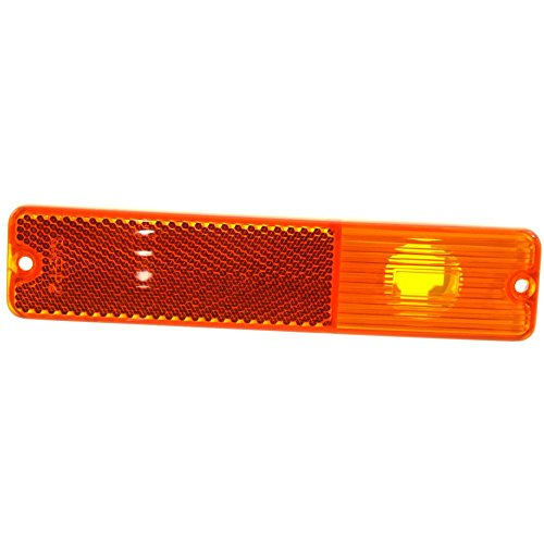 Side Marker Lens for Jeep CJ Series 68-86 / SJ 84-91 Front Right or Left Amber Lens ()