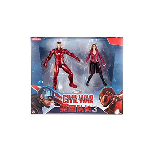 "Children's Toy Tall 7"" Marvel Captain America: Civil War 3: Scarlet Witch+Iron Man Figures (2 figures)"