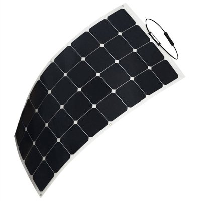 HQST 100 Watt 12V Monocrystalline Lightweight Solar Panel for RV/ Boat/ Other Off Grid Applications by HQST