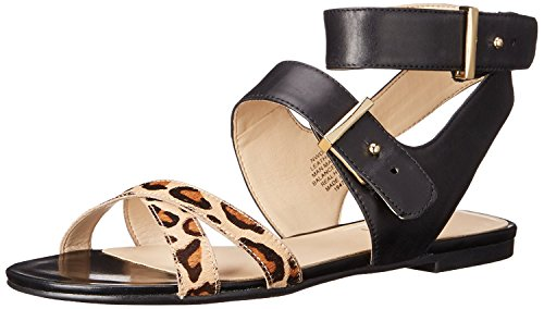 Nine West WomenS Darcelle Leather Dress Sandal, Black/Natural Multi, 40 B(M) EU/7.5 B(M) UK