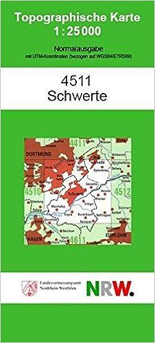 Topographische Karte Nrw.Topographische Karte 4511 Schwerte Topographische Karten 1 25000 Tk