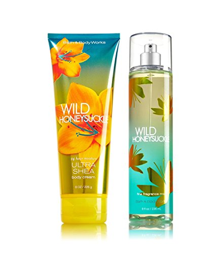 Bath & Body Works Wild Honeysuckle Mist & Ultra Shea Body Cream Gift Set