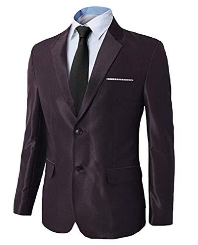 Slim Manga 4xl Larga color Chaqueta Tuxedo Business De Hombre Traje Fit Violett Ropa Blazer Elegante Size qnztZnvA