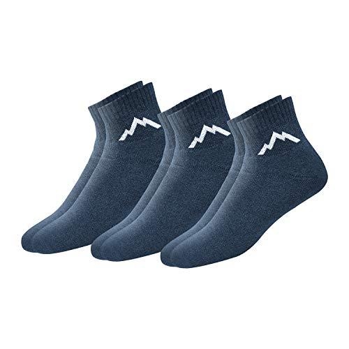 - Ranger Sport Men's Heavy Duty Cotton Quarter Athletic Socks, Pack of 3 (Denim Blue)