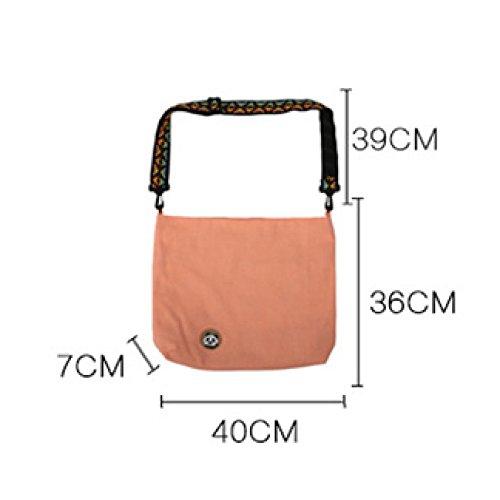 Di Gmrry Funzionale Rosa Il L'esclusivo Colore Borse Scolastico Lavoro Tela Casuale Staccabile Per Con Design Tracolla A Mano HHxqF1