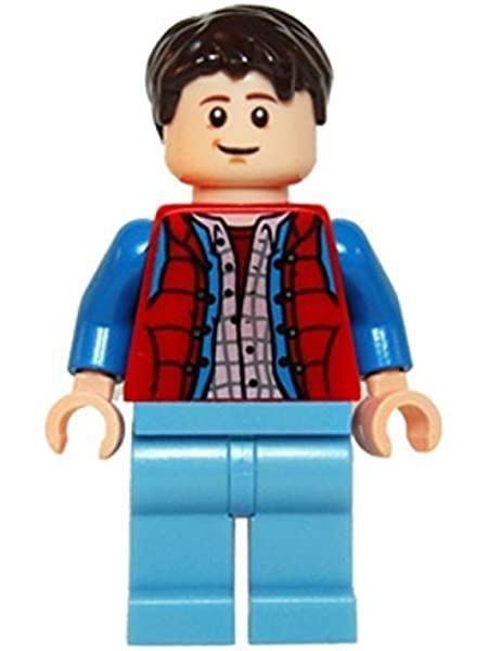 NEW Lego Back to The Future FLESH MINIFIG BOY HEAD Dr Emmett 'Doc' Brown 21103