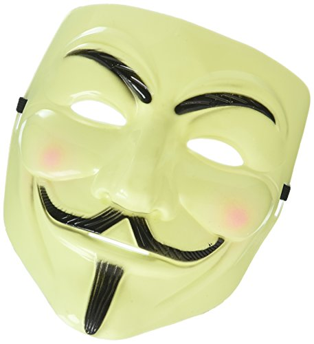 None Shot-in Anonymous V for Vendetta Guy Fancy Dress Halloween face mask Fancy Dress Cool]()