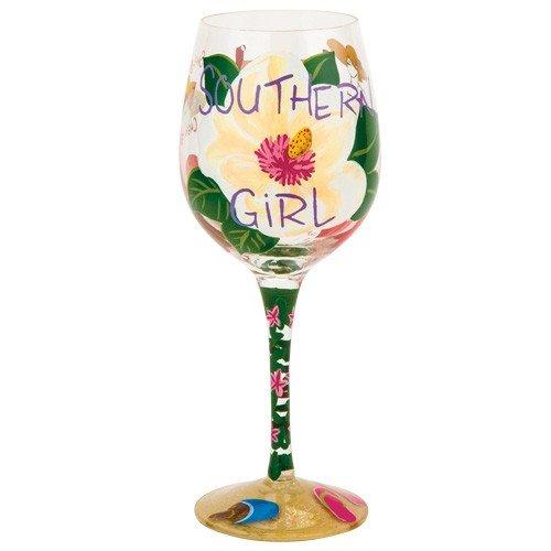 Santa Barbara Design Studio GLS11-5526C Lolita Love My Wine Hand Painted Glass, Southern Girl