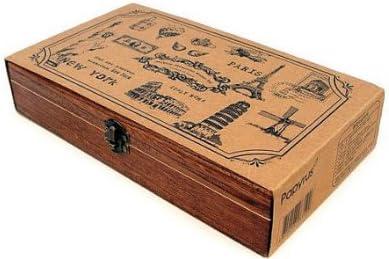 Caja con juego de 15 sellos de viajes por el mundo - Madera y caucho: Amazon.es: Juguetes y juegos